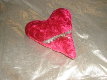 handcrafted sachet red