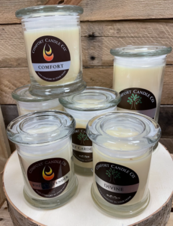 Handcrafted soy-blend wax  Comfort in your home