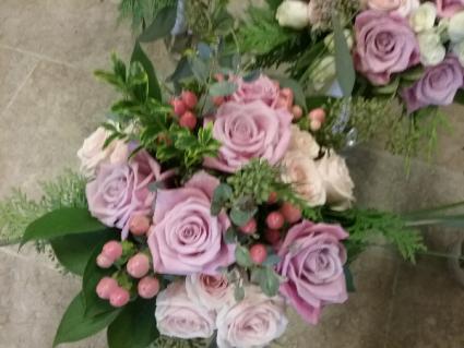 Handheld bouquet of Roses Bridesmaid bouquet