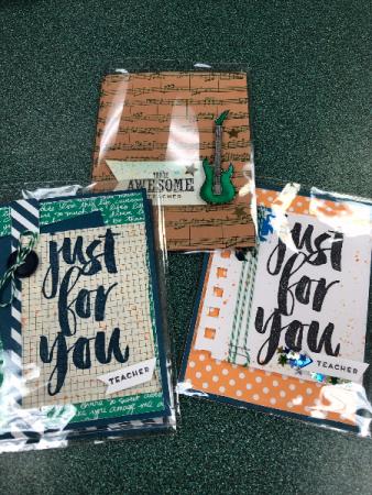 Handmade cards For teacher