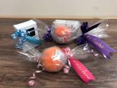 Handmade soap or bath bombs With teacher ribbon