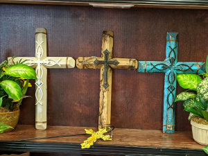 Handmade Wooden cross  in Milton, FL | PURPLE TULIP FLORIST INC.