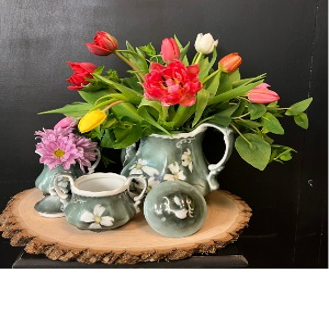 Handpainted tea set  Mother's day special in Milton, FL | PURPLE TULIP FLORIST INC.