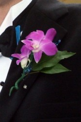 Handsome Orchid Boutonniere