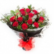 Handtie Of 12 Roses Roses