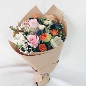 Handtied mixed bouquet **flowers may vary