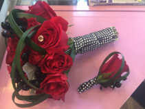 Handtied Prom Bouquet & Boutonierre