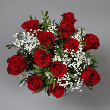 Handtied Red Roses Valentine's