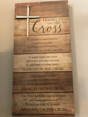 Hang It On The Cross Sign