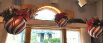 Hanging Christmas Ornaments  Artifical Arrangement Local Delivery Only