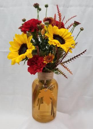 Hanging Leaf Vase Fresh Arrangement