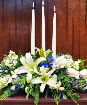 Hanukkah Centerpiece Arrangement in Winston Salem, NC | RAE'S NORTH POINT FLORIST INC.