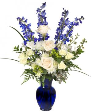 HANUKKAH MIRACLES Floral Arrangement in Cooperstown, ND | BOUQUETS ON BURREL