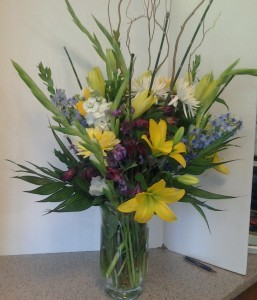 Happy Wishes flower arrangement in Pittsfield, MA | NOBLE'S FARM STAND AND FLOWER SHOP