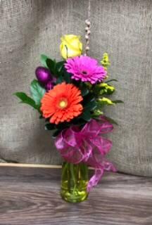 Easter Trio  Gerbera vase
