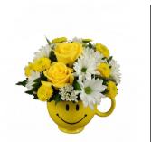 Happiest Birthday Flower Arrangement