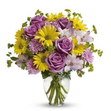 perfect pastel vase arrangement
