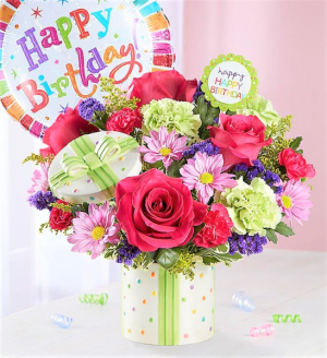 Happiest of Birthdays!  Favorite Gift! Keepsake Sandra Magsamen Container in Gainesville, FL | PRANGE'S FLORIST