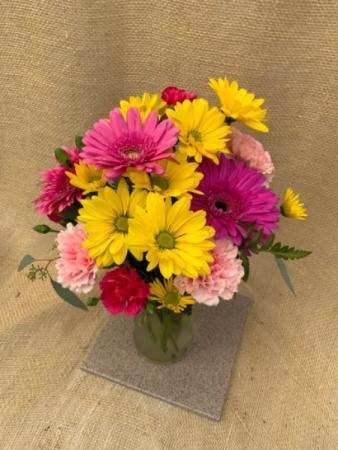 Happiness  Fresh Vase Arrangement