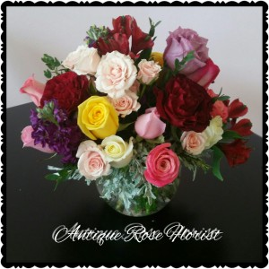 Happiness Galore VARIETY OF MIXED BEAUTIFUL ROSES AND SRAY ROSES in Magnolia, TX | ANTIQUE ROSE FLORIST