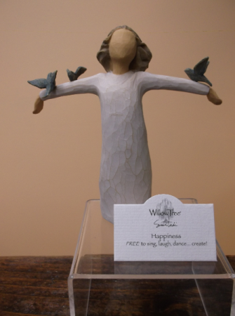 """HAPPINESS"" WILLOW TREE FIGURINE"