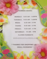 August Summer Hours Making extra time for Family, Fun and Sun before schools starts~!!