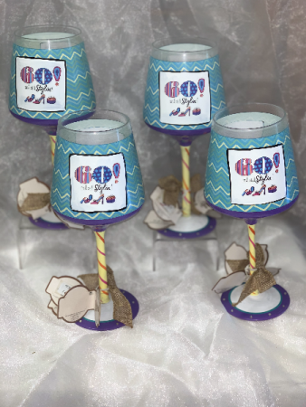 Happy 60th Birthday Wine Glasses