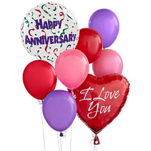 HAPPY ANNIVERSARY BALLOON BOUQUET  in Mcdonough, GA | Parade of Flowers