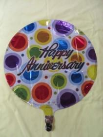 Happy Anniversary Balloon Mylar Balloon