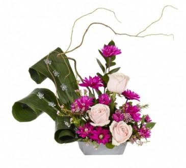 Happy Anniversary Low Arrangement With Diamond Studs In Fairfield Ca Adnara Flowers More
