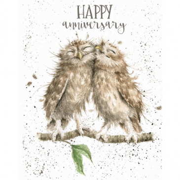 happy anniversary owls card