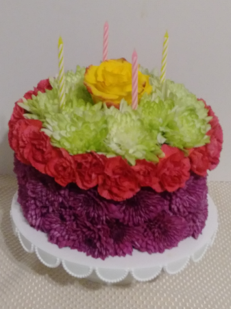 Happy Bday to you! Full Size Flower Cake