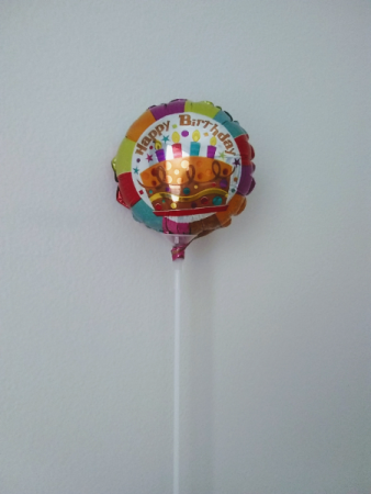 "Happy birthday! 4"" foil balloon"