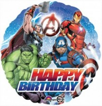Happy Birthday Avengers Mylar Balloon