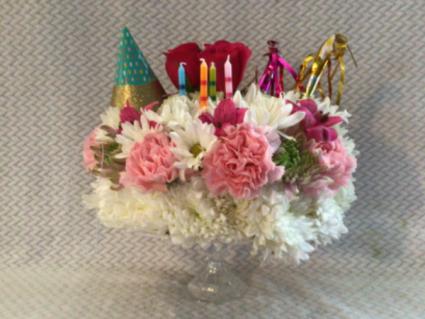 Happy birthday baby  Vase arrangement