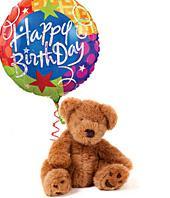 Happy Birthday Balloon and Bear Gifts