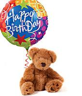 Happy Birthday Balloon and Bear Gifts
