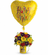 Happy Birthday Balloon and Mug bouquet
