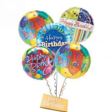 Happy Birthday Balloon Bouquet-DeBrand candy bar