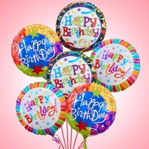Half Dozen Happy Birthday  Balloon Bouquet  in Winter Springs, FL | WINTER SPRINGS FLORIST AND GIFTS