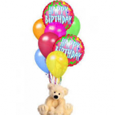 Happy Birthday Balloon & Stuffed Animal