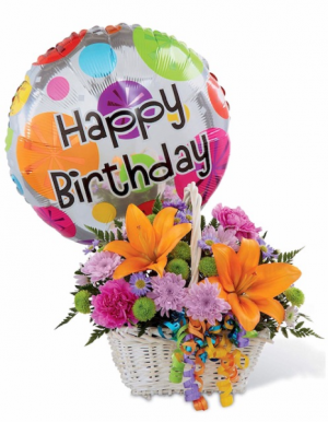 Happy Birthday Basket  in Oliver, BC | Flower Fantasy & Gifts Inc.