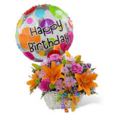 Designer's Choice Happy Birthday Basket & Balloon