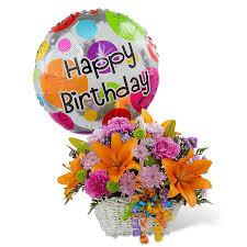 Designer's Choice Happy Birthday Basket & Balloon