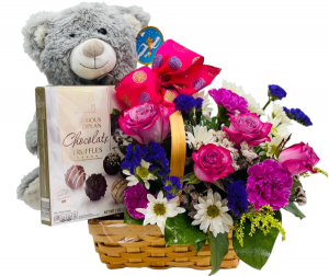 Happy Birthday Basket Gift Basket in Miami, FL | FLOWERTOPIA