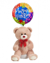 Happy Birthday Bear with Balloon