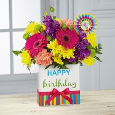 Happy Birthday Arrangement in Spruce Grove, AB | TARAH'S GROWER DIRECT