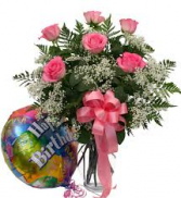 Happy Birthday Bouquet  Roses