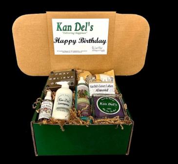 Happy Birthday Box Sweet & Spa Gift Set