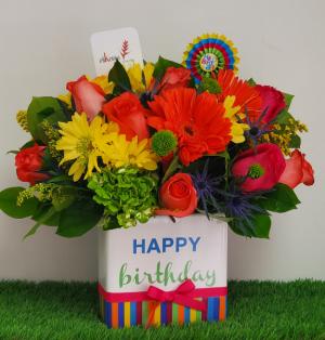 Happy Birthday Bright Colorful Birthday in San Juan, PR | ELIKONIA FLOWERS